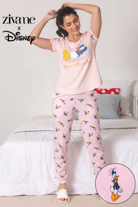 ccd15ff37d Buy Zivame X Disney Mickey N Friends Top N Pyjama Set - Pink N Print
