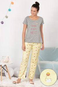 56ae54afe3 Buy Zivame Hen Party Top N Pyjama Set - Yellow N Print