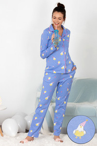 Buy Zivame Hen Party Top N Pyjama Set - Lavender N Print 7e37abb84