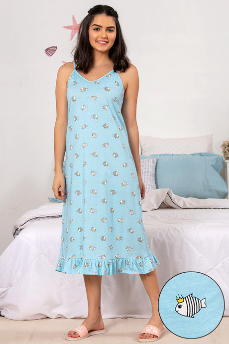 40e60eec6ce1 Buy Zivame Sea Life Sleep Dress - Blue at Rs.895 online