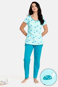 324d37cdd Buy Zivame Tropical Animals Top N Pyjama Set - Green