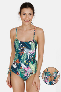 Buy Zivame Slip On One-Piece Swimsuit - Dk Green
