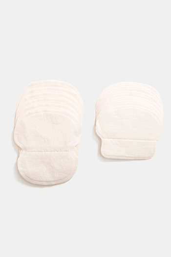 Zivame  Pair of 6  Under Sweat Pads For Long And Short Sleeves   White