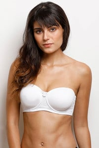 1a1c0c670926c Buy Zivame Padded Underwired Strapless Bra - Snow White