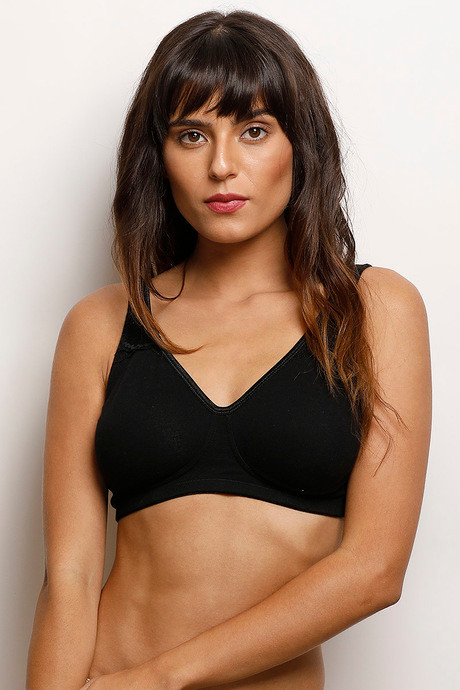 8fc555c75 Buy Zivame Cotton Wirefree Non Padded Bra- Black at Rs.599 online ...