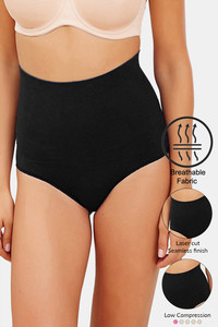 Buy Zivame Tummy Control Midwaist Hipster Panty - Black
