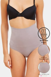 Buy Zivame Tummy Control Midwaist Hipster Panty - Grey