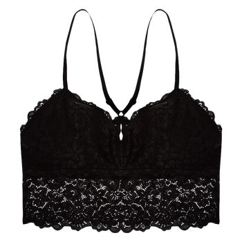 model image of Zivame Made to layer Filet Lace Longline Bralette – Black